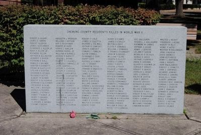 Chemung County World War II Monument<br>North Tablet image. Click for full size.