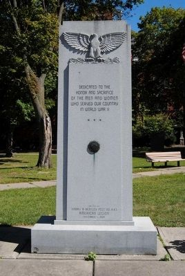 Chemung County World War II Monument image. Click for full size.