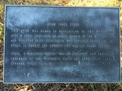 Burr Jones Field Marker image. Click for full size.