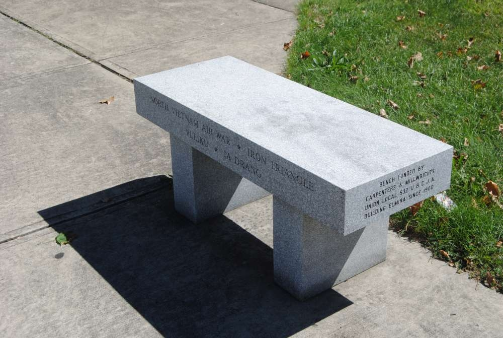 Chemung County Korea and Vietnam Monument Memorial Bench
