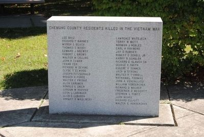 Chemung County Residents Killed in the Vietnam War image. Click for full size.