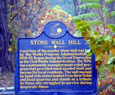 Stone Wall Hill Marker image. Click for full size.