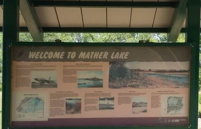 Welcome to Mather Lake Marker image. Click for full size.