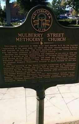 Mulberry Street Methodist Church Marker image. Click for full size.