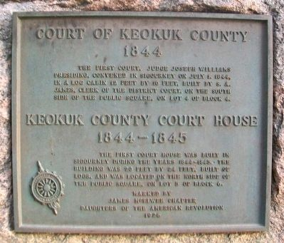 Court of Keokuk County and Keokuk County Court House Marker image. Click for full size.