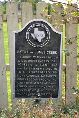 Battle of Jones Creek Marker image. Click for full size.