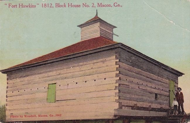 "<i>""Fort Hawkins"", Block House No. 2, Macon, Ga., </i> image. Click for full size."
