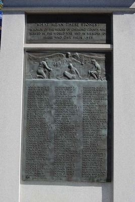 Chemung County World War I Monument image. Click for full size.