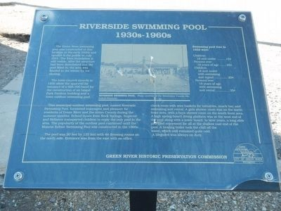 Riverside Swimming Pool Marker image. Click for full size.