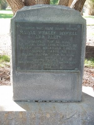 Major Wesley Powell and Party Marker image. Click for full size.