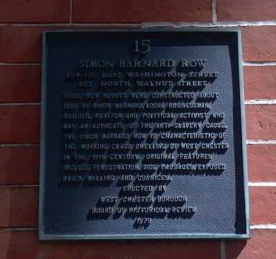 Simon Barnard Row Marker image. Click for full size.