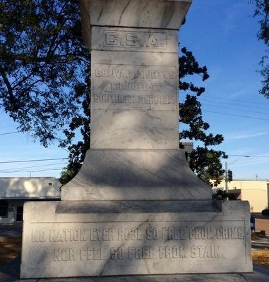 Bolivar County Confederate Monument Marker (Rear) image. Click for full size.