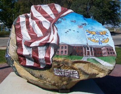 Ottumwa Freedom Rock Veterans Memorial image. Click for full size.