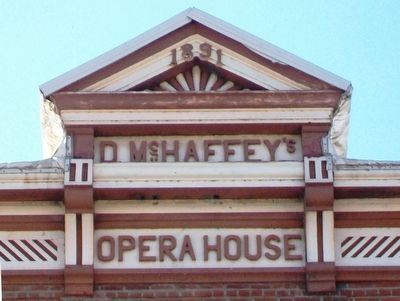 McHaffey Opera House Tympanum image. Click for full size.