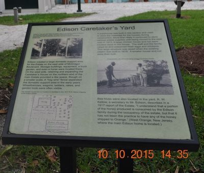 Edison Caretaker's Yard Marker image. Click for full size.