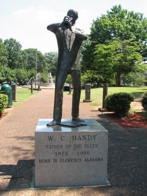 William Christopher Handy Statue in Wilson Park image. Click for full size.