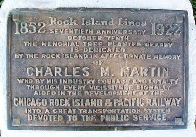Charles M. Martin Marker image. Click for full size.