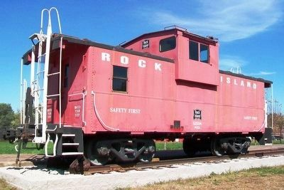 Rock Island Caboose at Eldon Depot image. Click for full size.