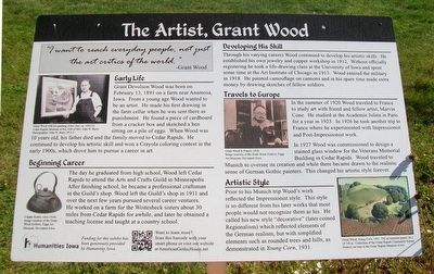 The Artist, Grant Wood Marker image. Click for full size.
