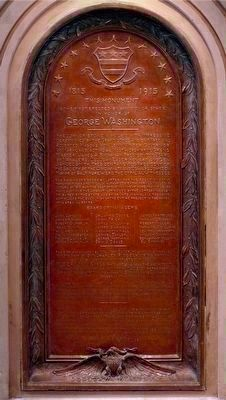 1915 Centenary Plaque<br>Inside the Monument image. Click for full size.