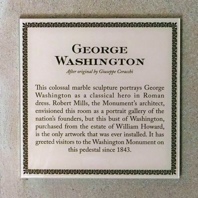 <b>George Washington</b><br><i>After orginial by Giuseppe Ceracchi</i> image. Click for full size.