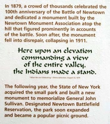 Newtown Battlefield Reservation Marker image. Click for full size.