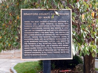 Bradford County Courthouse Marker image. Click for full size.