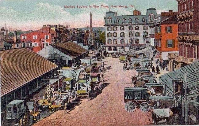 <i>Market Square in Wartime, Harrisburg, Pa.</i> image. Click for full size.
