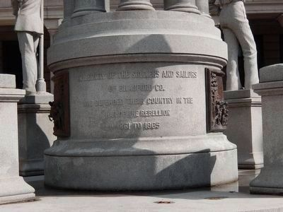 Bradford County Soldiers & Sailors Monument (base) image. Click for full size.