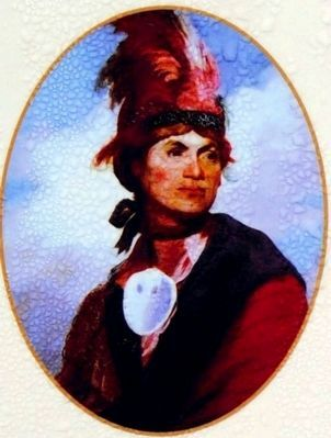 Thayendanegea, also known as Joseph Brant image. Click for full size.