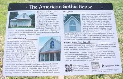 The American Gothic House Marker image. Click for full size.