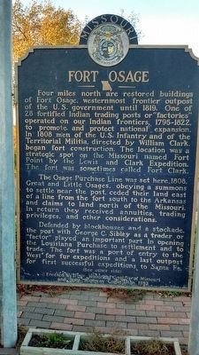 Fort Osage Marker - Side 1 image. Click for full size.