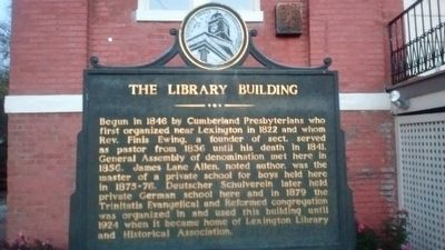 The Library Building Marker image. Click for full size.