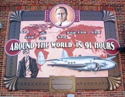 Around the World in 91 Hours Marker image. Click for full size.