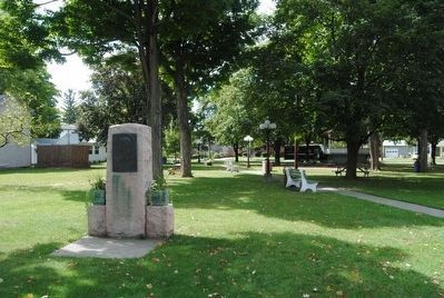 Eugene Zimmerman Monument<br>Located Nearby in Teal Park image. Click for full size.