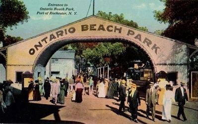 <i>Entrance to Ontario Beach Park, Port of Rochester, N.Y.</i> image. Click for full size.