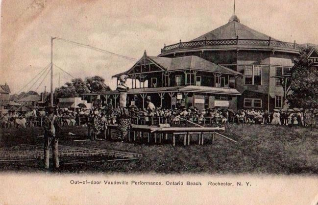 <i>Out-of-Door Vaudeville Performance, Ontario Beach. Rochester, N.Y.</i> image. Click for full size.