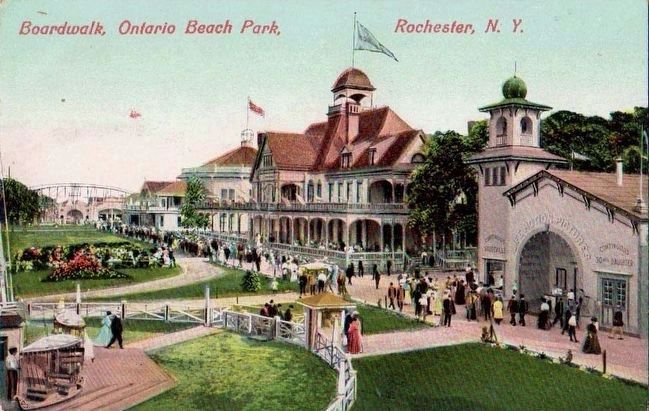 <i>Boardwalk, Ontario Beach Park, Rochester, N.Y.</i> image. Click for full size.