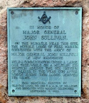 In Honor of Major General John Sullivan Monument image. Click for full size.