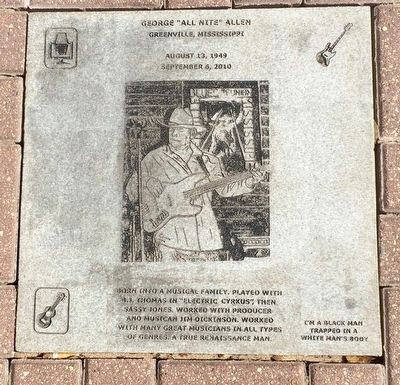 "George ""All Nite"" Allen Plaque image. Click for full size."