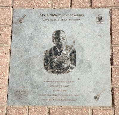 "David ""Honey Boy"" Edwards Plaque image. Click for full size."