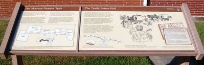 The Mormon Pioneer Trail / The Trail's Better Half Marker image. Click for full size.