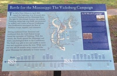 Battle for the Mississippi: The Vicksburg Campaign Marker image. Click for full size.