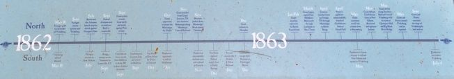 Battle for the Mississippi: The Vicksburg Campaign Timeline 1862-1863 image. Click for full size.