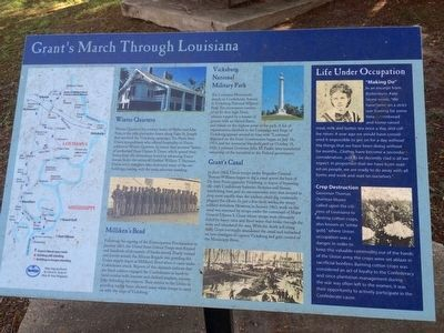 Grant's March Thru Louisiana Marker image. Click for full size.