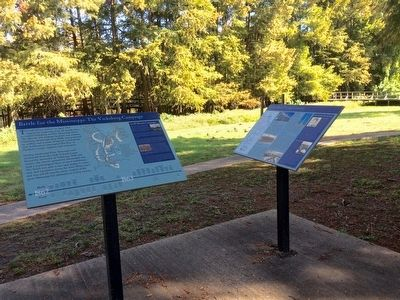 Grant's March Thru Louisiana Marker near former canal area. image. Click for full size.
