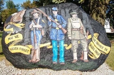 Corydon Freedom Rock Veterans Memorial image. Click for full size.