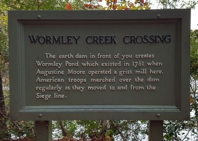 Wormley Creek Crossing Marker image. Click for full size.