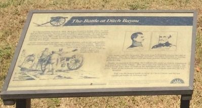 The Battle at Ditch Bayou Marker image. Click for full size.
