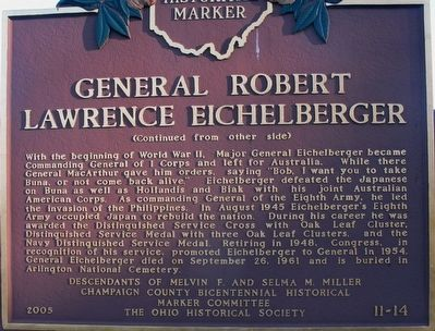 General Robert Lawrence Eichelberger Marker image. Click for full size.